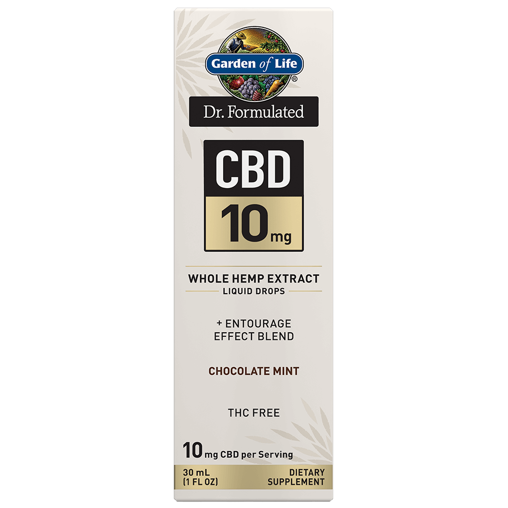 Dr. Formulated CBD 10mg Whole Hemp Extract Liquid Drops-1FL OZ