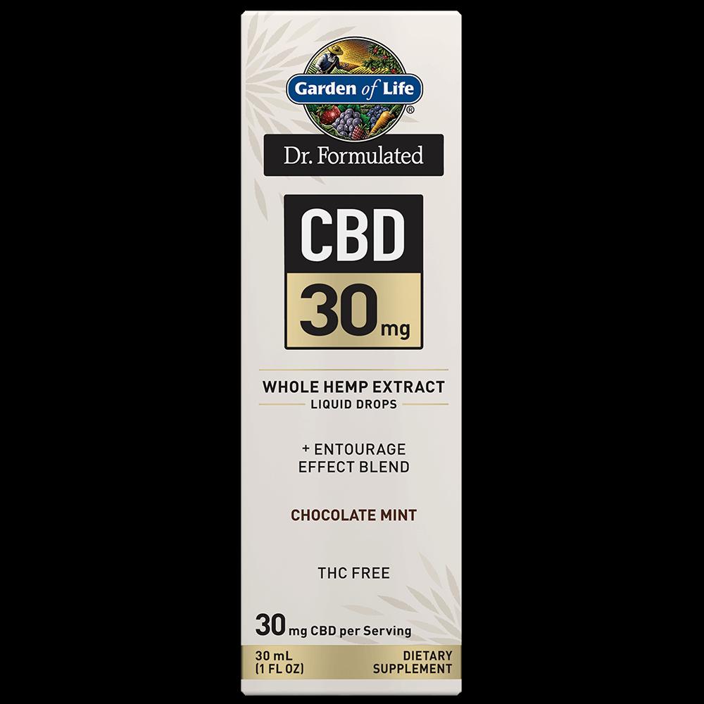 Dr. Formulated CBD 30mg Whole Hemp Extract Liquid Drops-1FL OZ