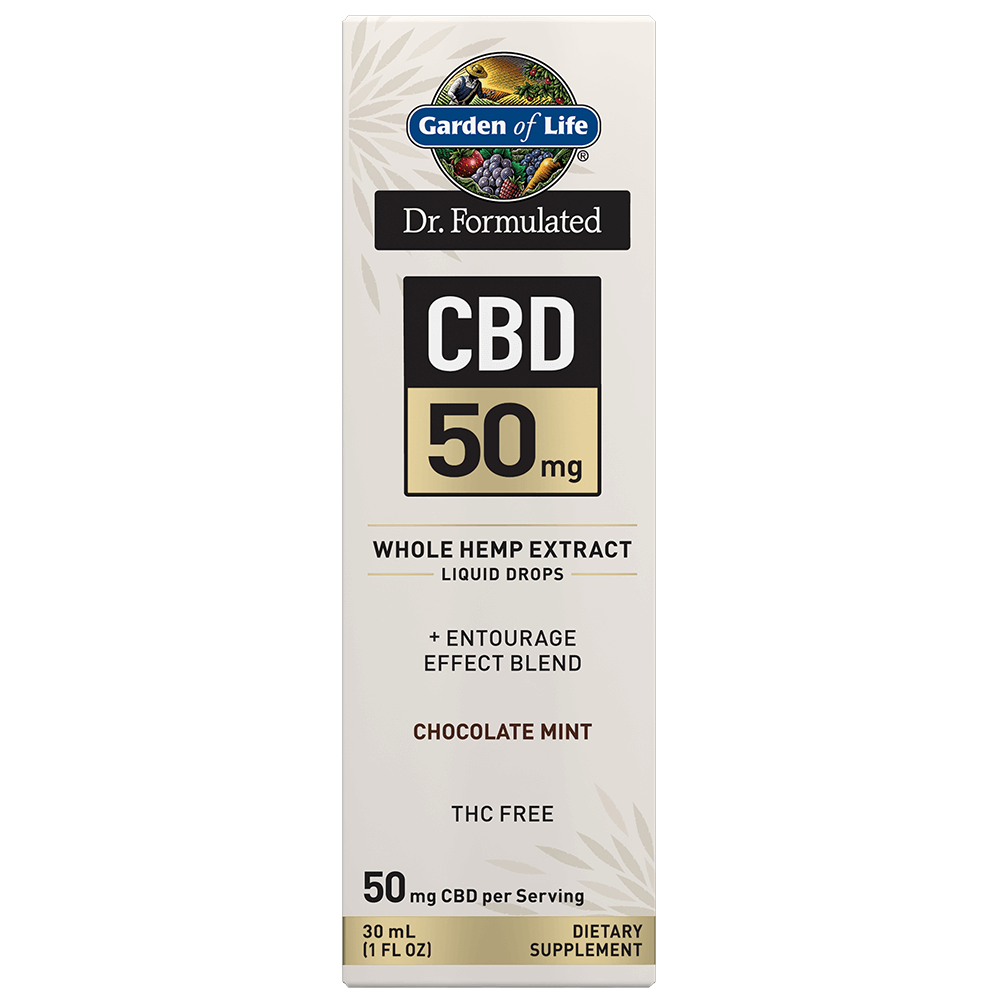 Dr. Formulated CBD 50mg Whole Hemp Extract Liquid Drops-1FL OZ