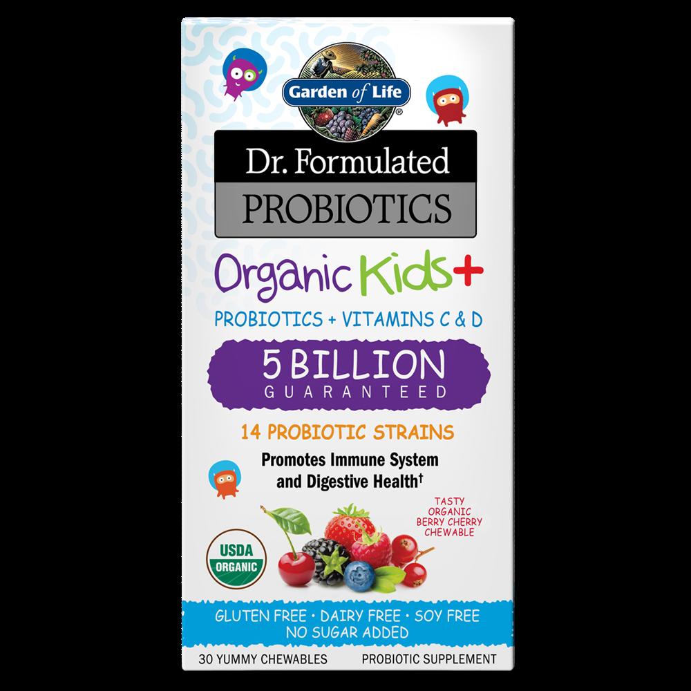 Dr. Formulated Probiotics Organic Kids+ 5 Billion CFU (30 Chewables)