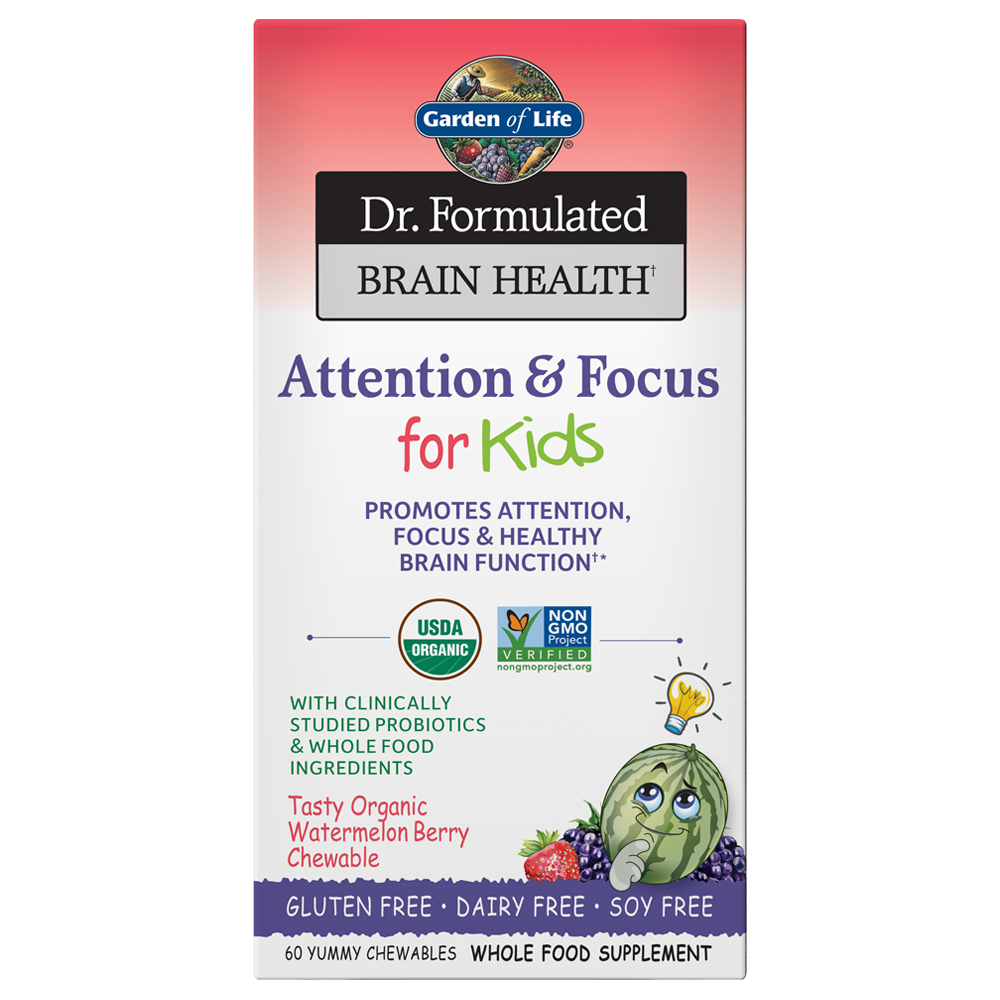 Dr. Formulated Attention & Focus For Kids (60 Chewables)
