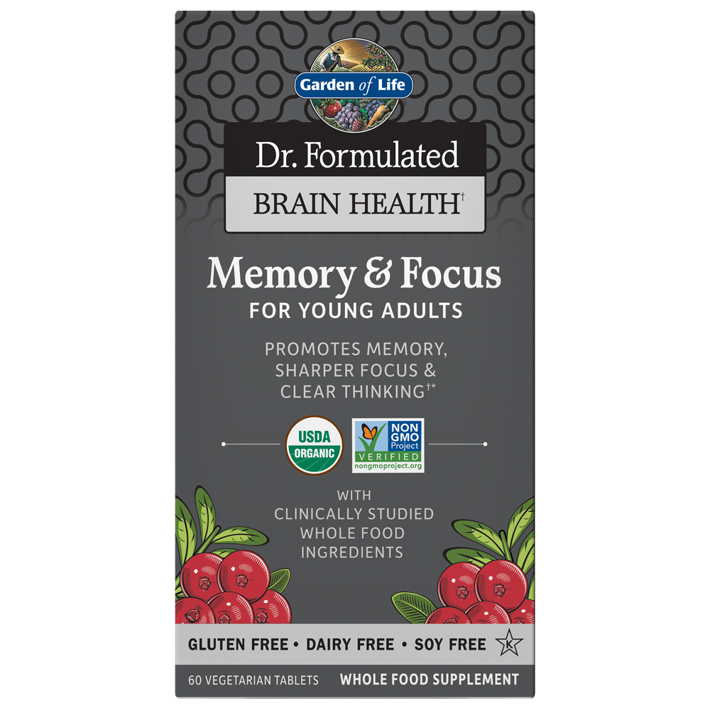 Dr. Formulated Memory & Focus For Young Adults (60 Vegi-Tabs)