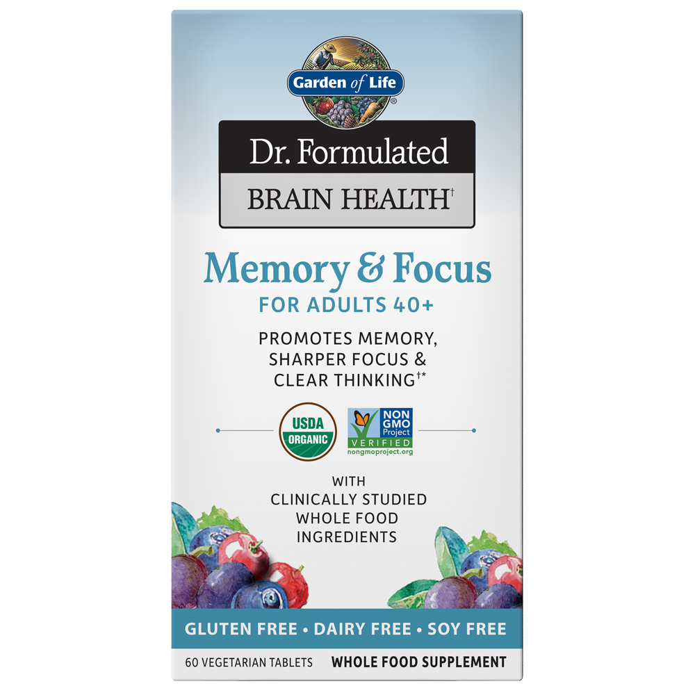 Dr. Formulated Memory & Focus For Adults 40+ (60 Vegi-Tabs)