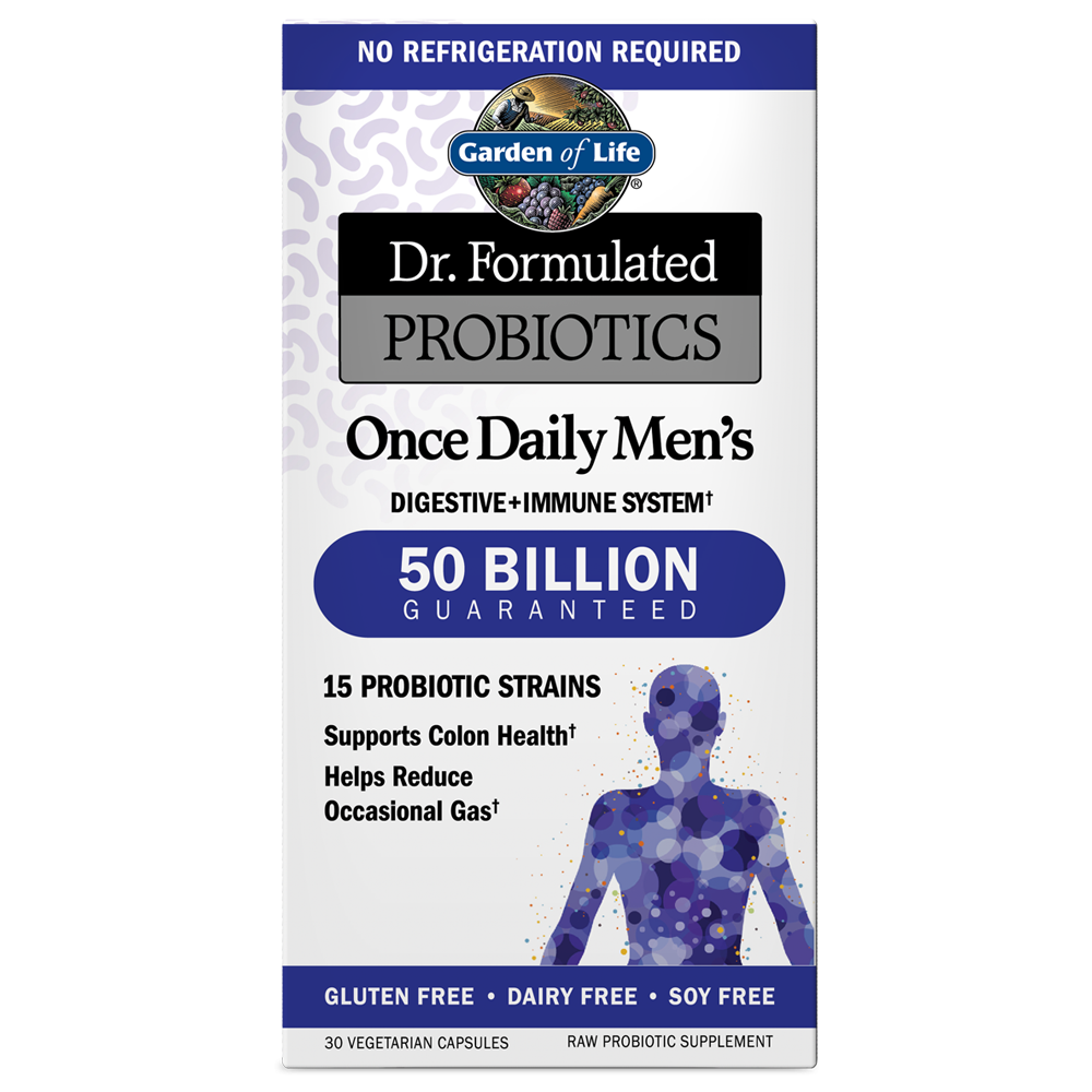 Dr. Formulated Probiotics Once Daily Men's 50 Billion CFU Shelf Stable (30 Vegi-Caps)