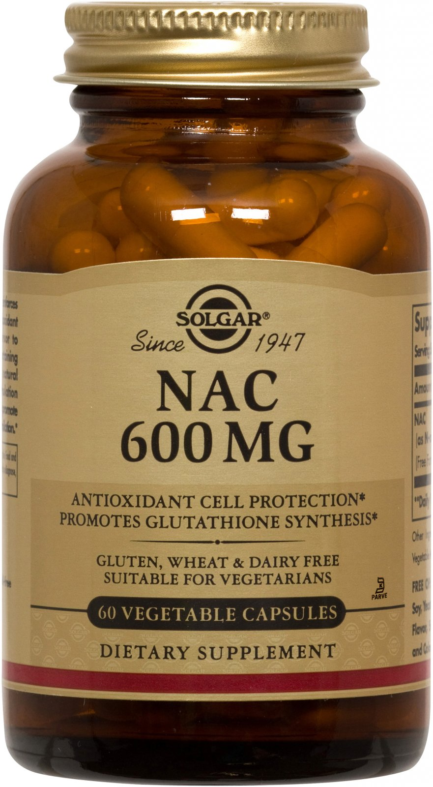 NAC 600 mg Vegetable Capsules