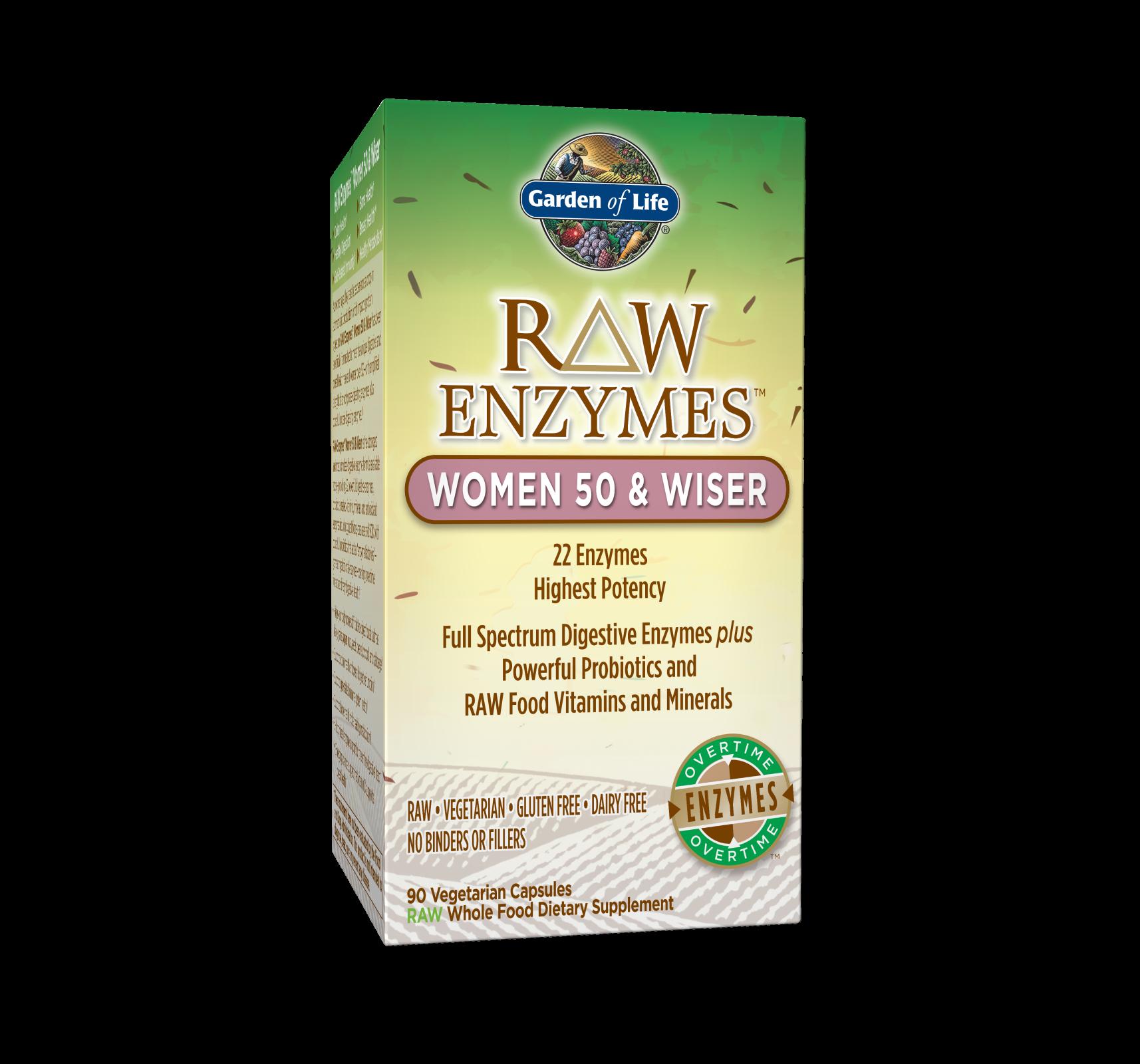 RAW Enzymes Women 50 & Wiser (90 Vegi-Caps)