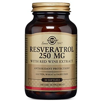 Resveratrol 250 mg with Red Wine Extract (60 Softgels)