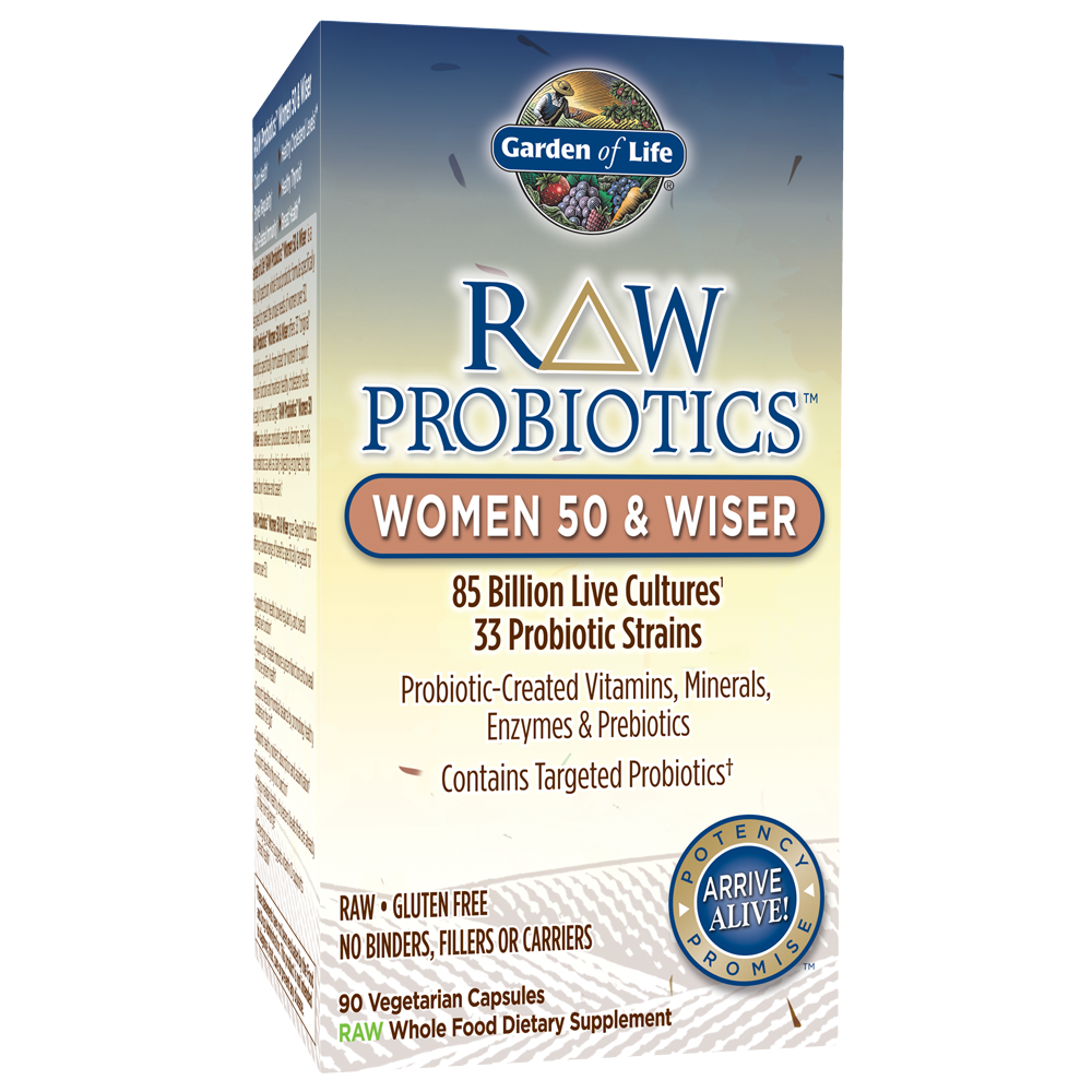 RAW Probiotics Women 50 & Wiser (90 Vegi-Caps)