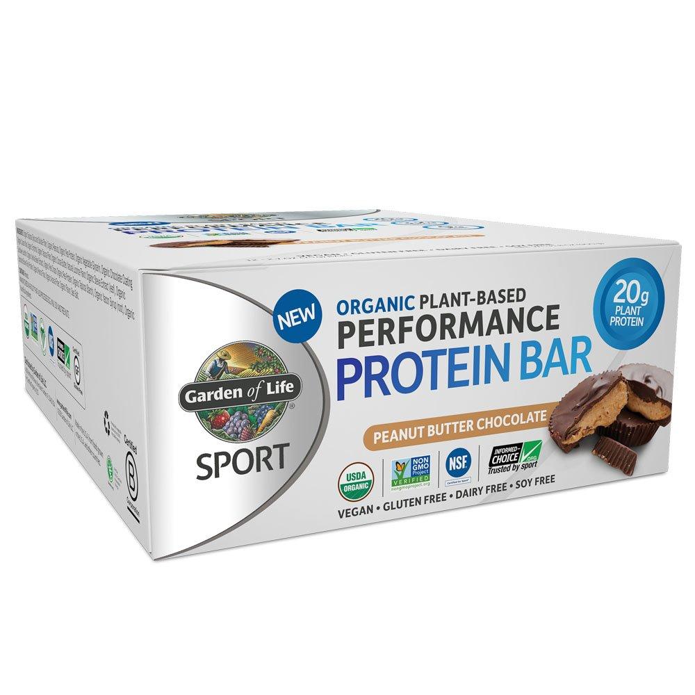 SPORT Organic Plant-Based Performance Protein Bars (Box of 12)