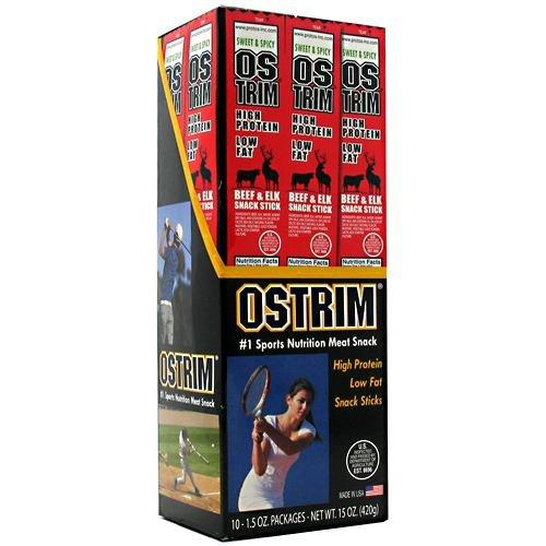 OSTRIM Beef & Elk Snack Sticks (Box of 10)