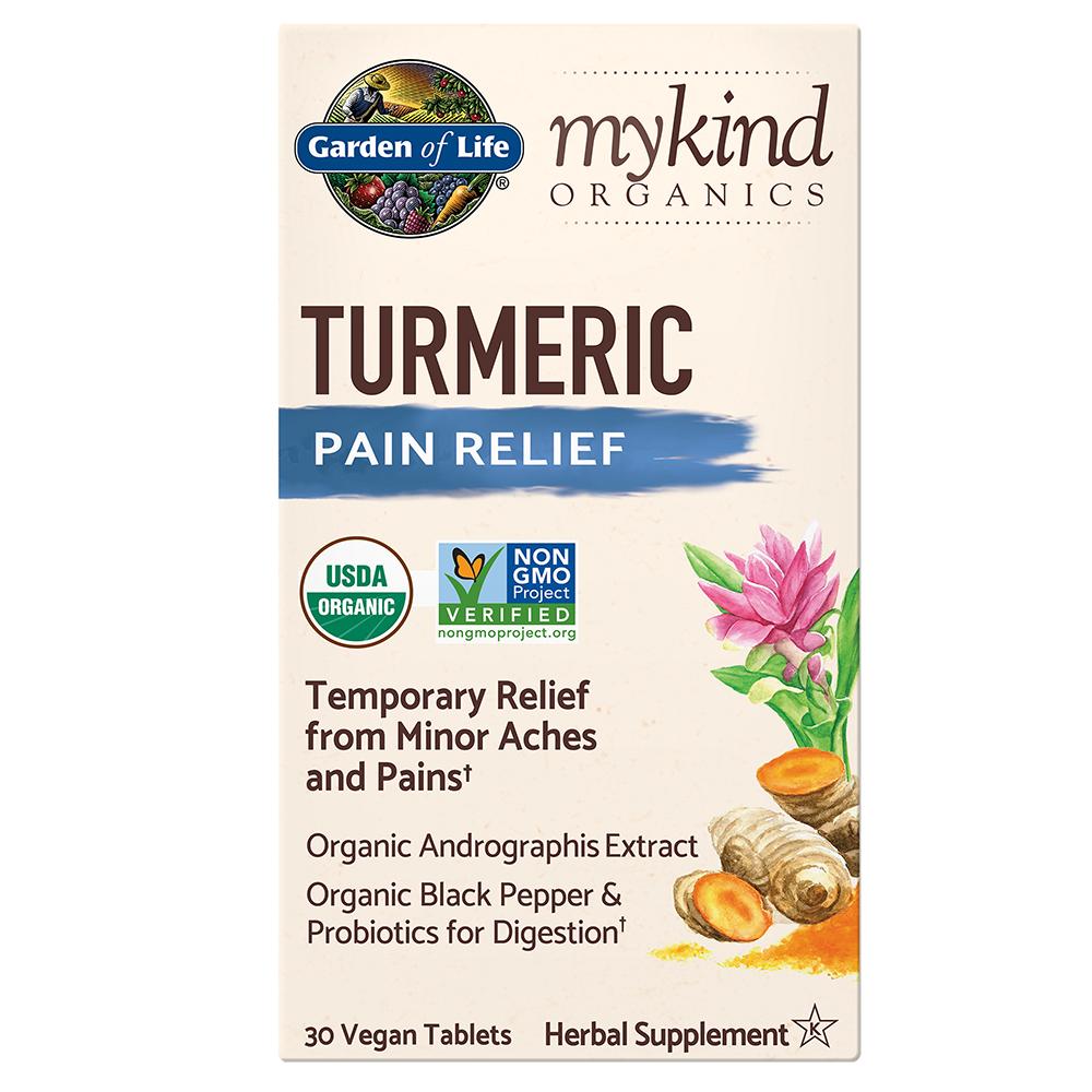 mykind Organics Turmeric Pain Relief (30 Vegan Tablets)