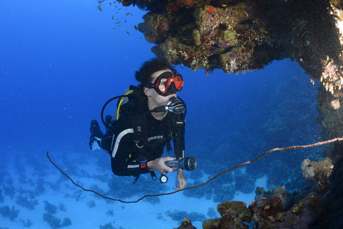 Scuba Diver in Grand Cayman with RU4Scuba