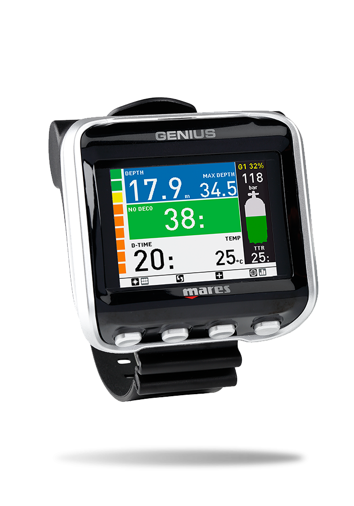 Mares Genius Wrist Mounted Dive Computer - with Transmitter