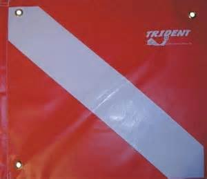 Trident 14 X 16 DIVE FLAG WITH STIFFENER & GROMMETS