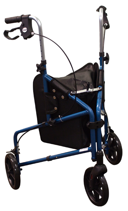 Walker, 3 Wheel, w/ Brakes and Pouch