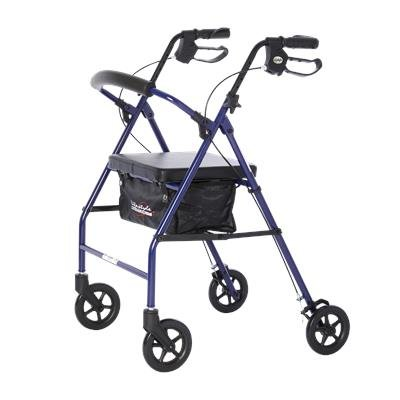 Walker Rollator, 4-Wheel, 6 Wheel, Lifestyle Steel 807
