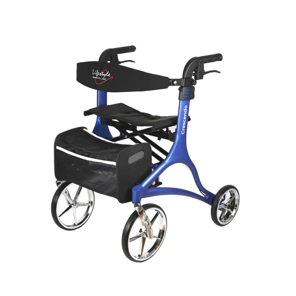 Walker Rollator, 4-Wheel w/ Seat, Lifestyle Crescendo