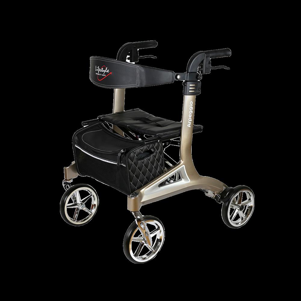 Walker Rollator, 4-Wheel w/ Seat, Lifestyle Arpeggio