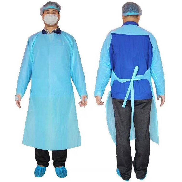 Gowns, Protective  Isolation, Disposable Poly