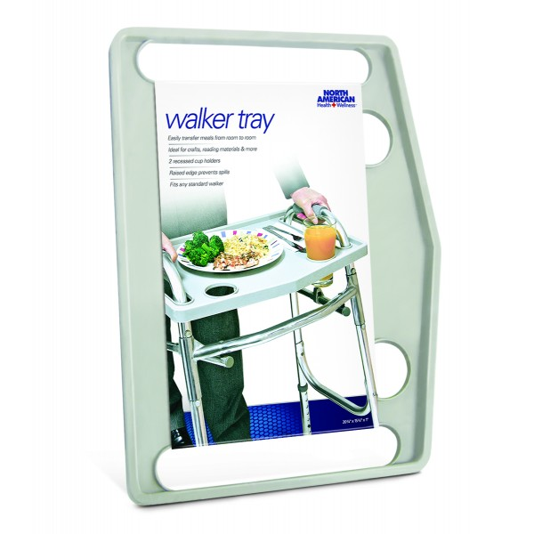 Walker Tray, Gray, 20-3/4 x 15-3/4 x 1