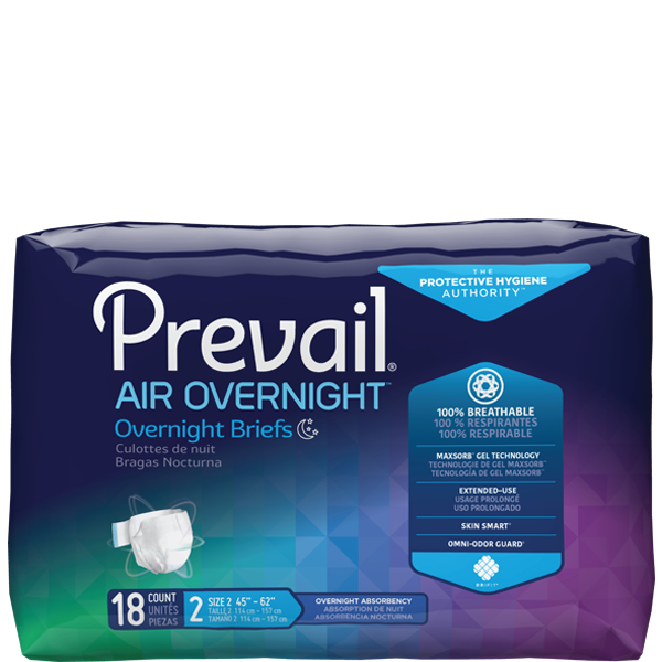 Briefs, Prevail Air, Unisex Overnight Absorbency