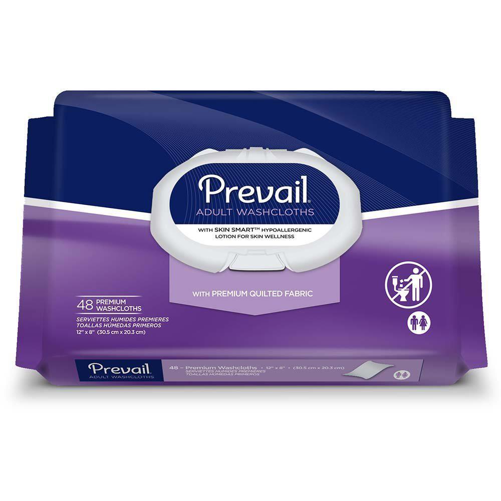 Wipes, Prevail Premium Washcloths, 12 X 8