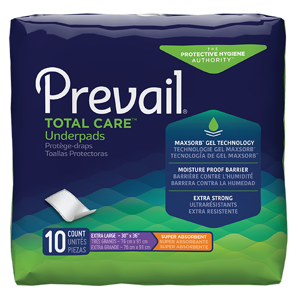 Underpad, Prevail Total Care, Disposable Super Absorbent