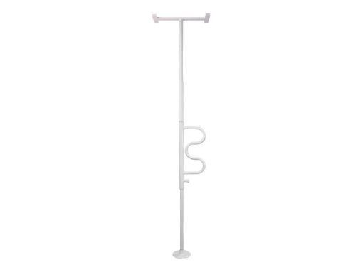 Security Pole, Stander,  w/ Curve Grab Bar