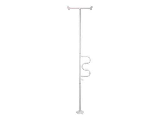 Security Pole, Stander,  w/ Curve Grab Bar