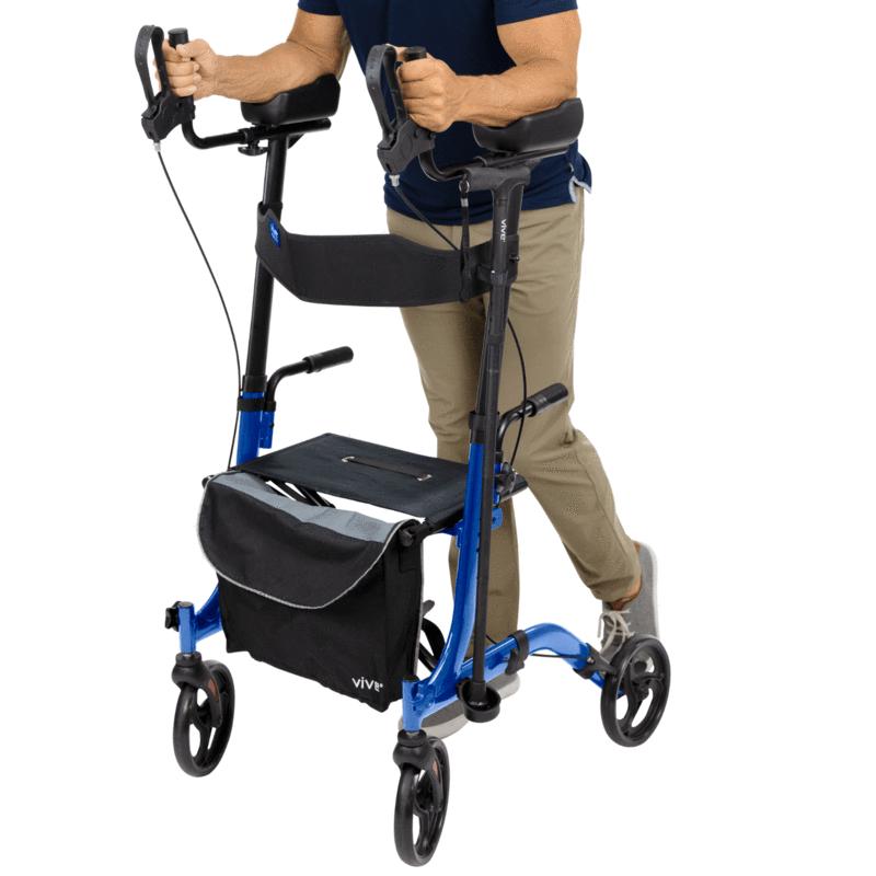 Walker Rollator, 4-Wheel, Vive Upright