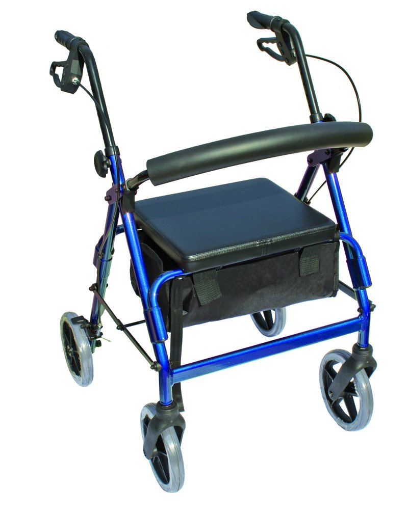 Walker Rollator, 4-Wheel, The Blazer, 8 Wheel, w/ Seat