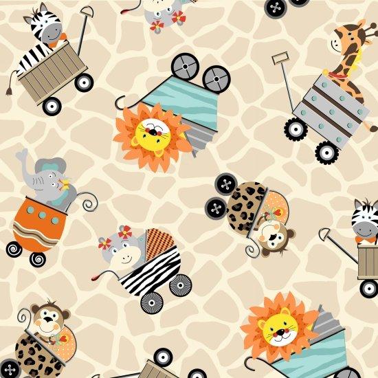 Animals in Carriage - Cream
