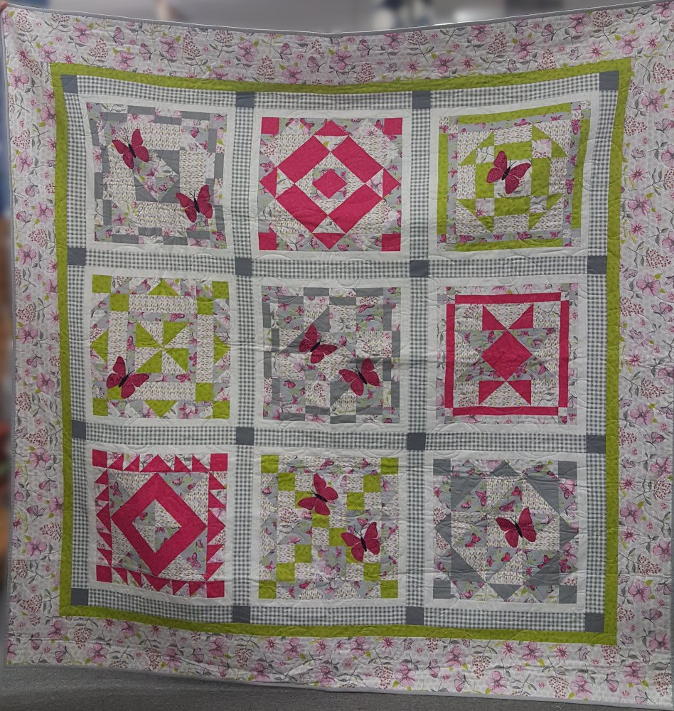 Pink Green Gray, 74 x 74