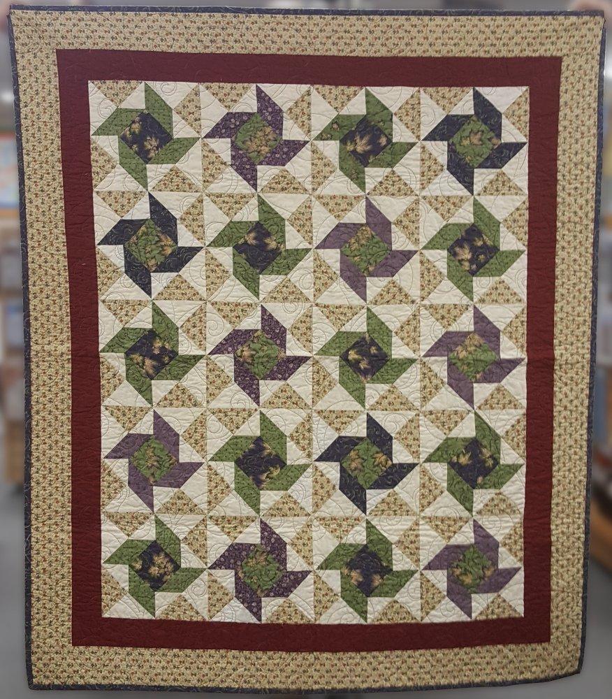 Purple Green, 47 x 54