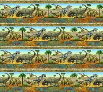 Dinosaur Stripe Border