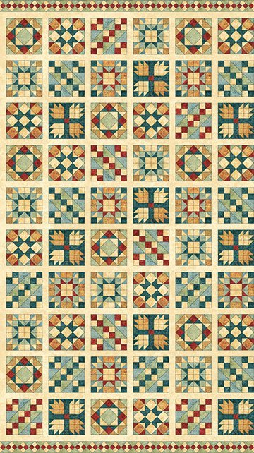 A Stitch in Time - Quilt Block Panel