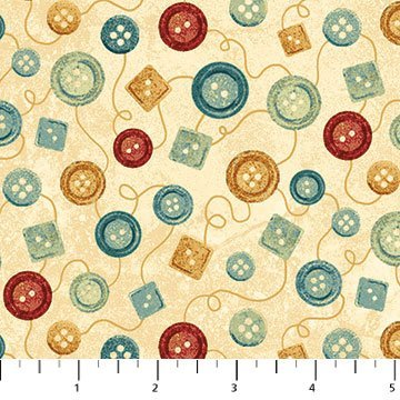 A Stitch in Time - Cream Buttons