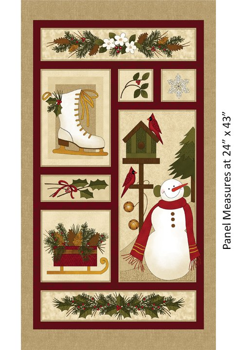 Winter Wonderland Panel Natural/Multi