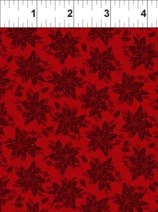Winter Twist, Tonal Floral, Red