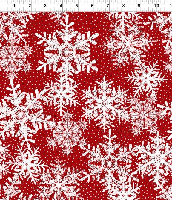 Winter Twist, Snowflakes, Red
