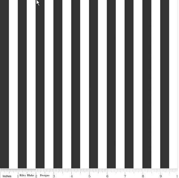1/2 Stripe, Black