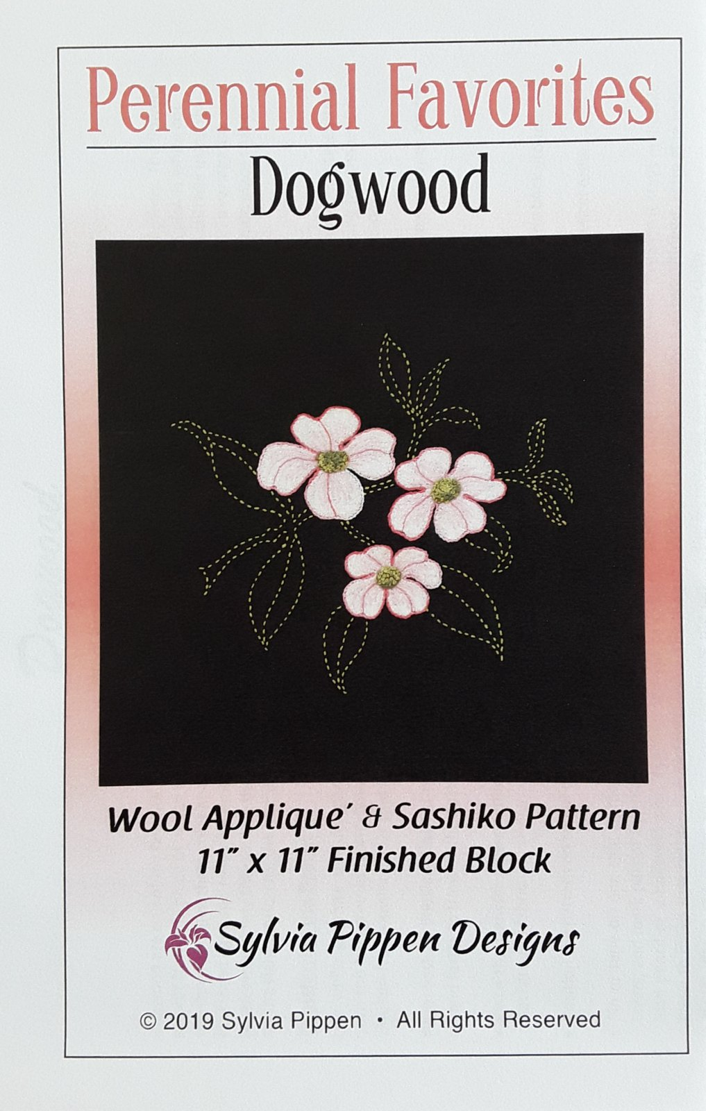 Perennial Favorites Dogwood Wool Applique & Sashiko Pattern