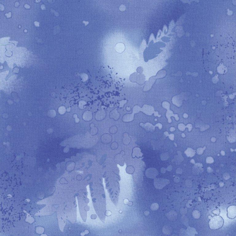 Benartex Fossil Fern Blue Frost