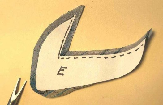 Applique Shipping Label Turned