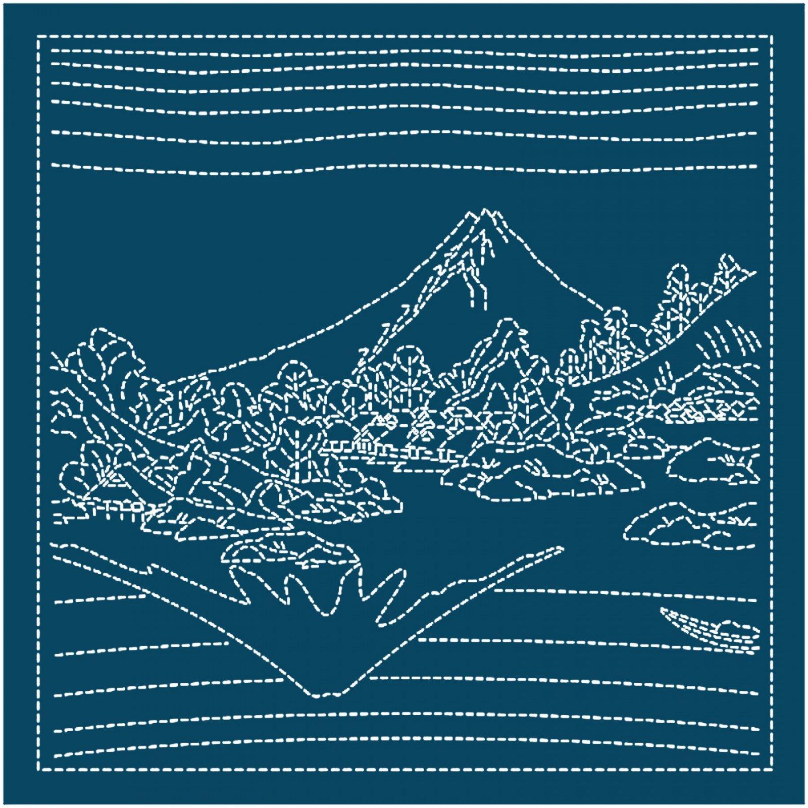 Hana Fukin Mt Fuji Sashiko Sampler navy