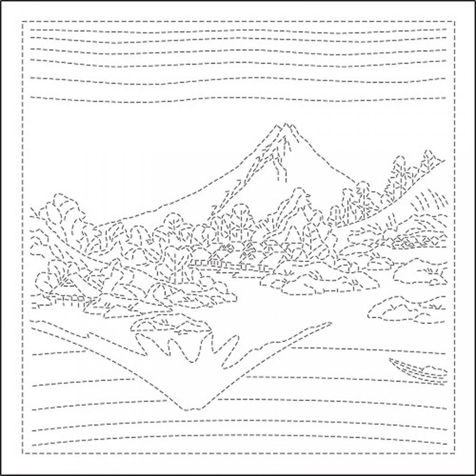 Hana Fukin Mt Fuji Sashiko Sampler white