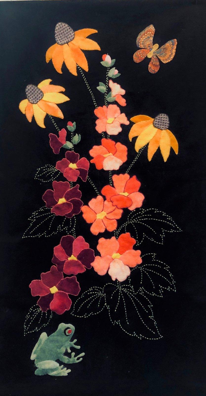 Frog & Flowers  Block #1 Fabric Kit Garden Vignettes Mystery BOM 2021