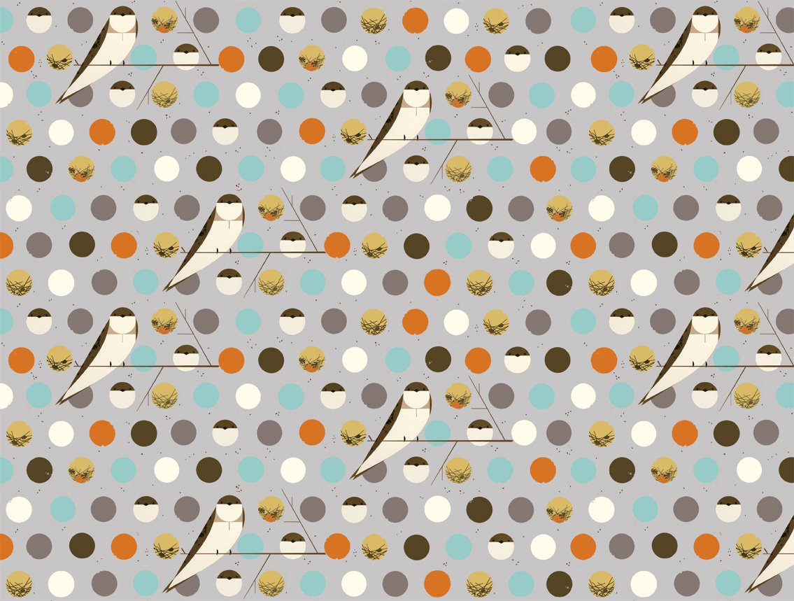 Charley Harper Bank Swallow in Sky