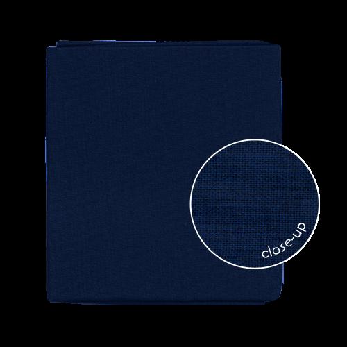 Essex Midnight Blue linen/cotton Sashiko Fabric