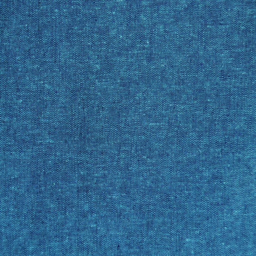 Essex Yarn Dyed Linen/Cotton Peacock Sashiko Fabric